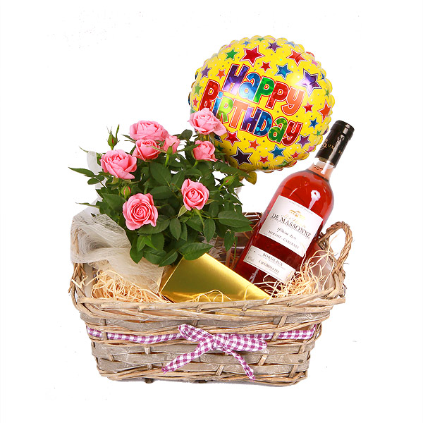 Wine Baskets For Delivery In Spain Happy Gift Set